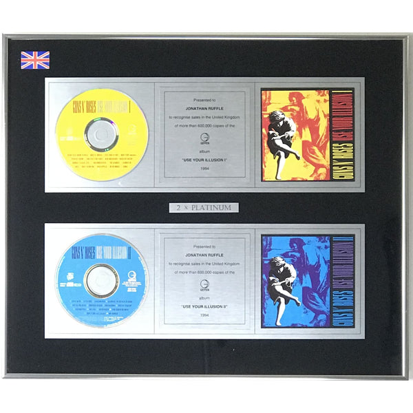 Guns N' Roses Use Your Illusion Geffen UK Label Award - Record Award