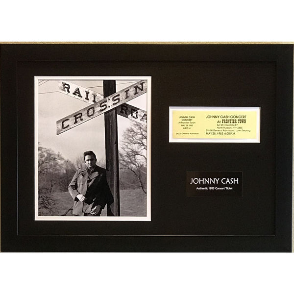 Johnny Cash Ticket Collage