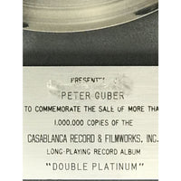 KISS Double Platinum RIAA Platinum LP Award