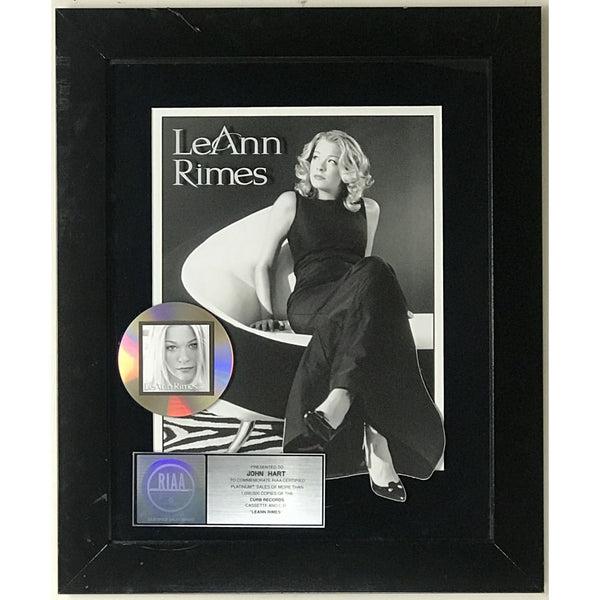 LeAnn Rimes self-titled album RIAA Platinum Award - Record Award