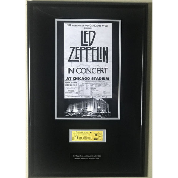 Led Zeppelin Canceled 1980 Concert Ticket Collage