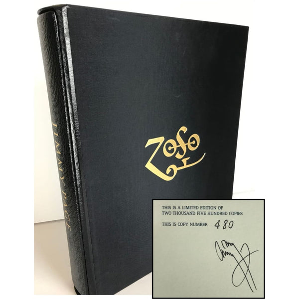 Led Zeppelin Jimmy Page Signed Book - Ltd Edition #480/2500 - RARE - Music Memorabilia