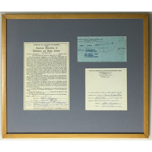 Leon Russell Signed 1962 Music Union Forms - RARE - Music Memorabilia Collage
