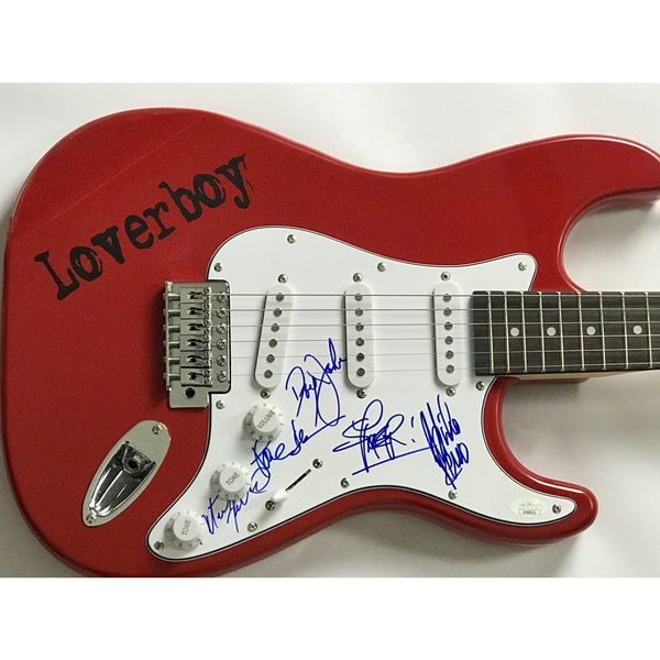Loverboy Signed Guitar by Reno Dean all 5 w/JSA COA