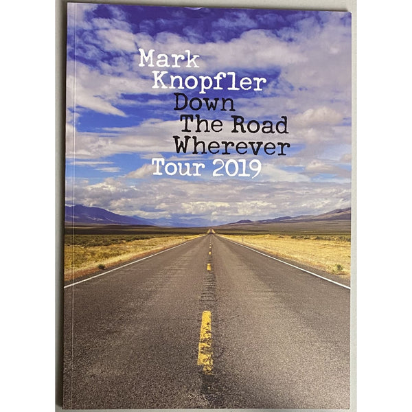 Mark Knopfler Down The Road Wherever 2019 Tour Program w/ Ticket - Music Memorabilia