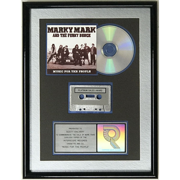 Marky Mark & the Funky Bunch Music For The People RIAA Platinum Album Award - Record Award