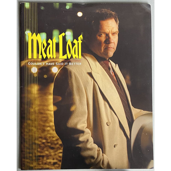 Meatloaf Couldn't Have Said It Better 2003 UK Tour Program - Music Memorabilia