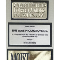 Moist Silver CRIA Double Platinum Album Award - Record Award