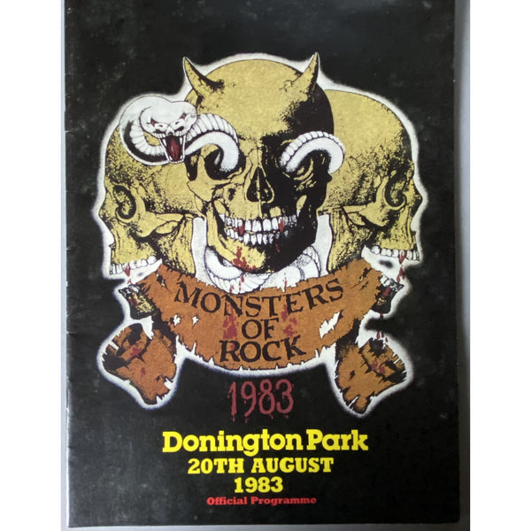 Mosters Of Rock 1983 Concert Tour Program - Music Memorabilia