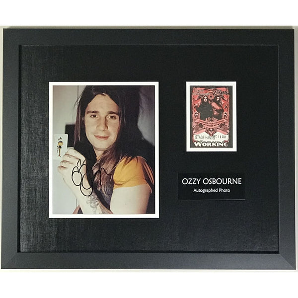 Ozzy Osbourne Collage Signed by Ozzy w/Epperson LOA - Music Memorabilia Collage