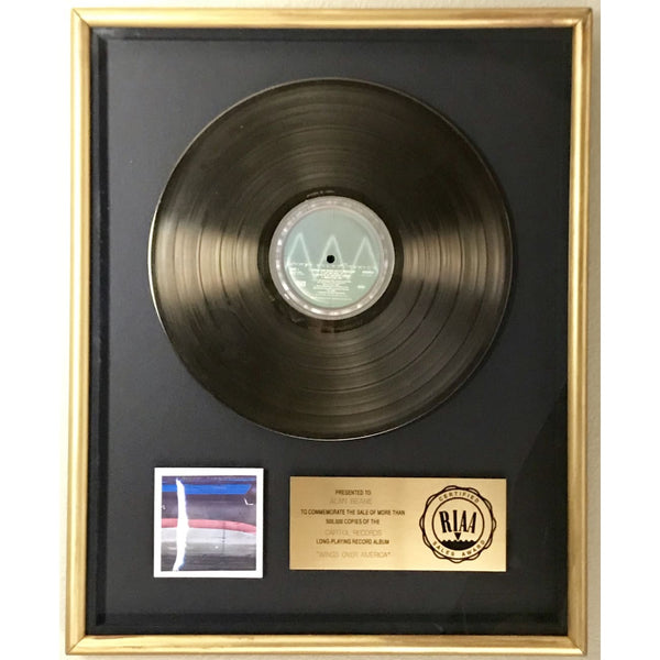 Paul McCartney & Wings Wings Over America RIAA Gold LP Award