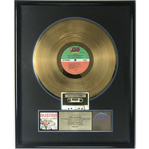 Phil Collins Buster soundtrack RIAA Gold LP Award - Record Award