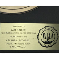 Phil Collins Face Value RIAA Gold LP Award