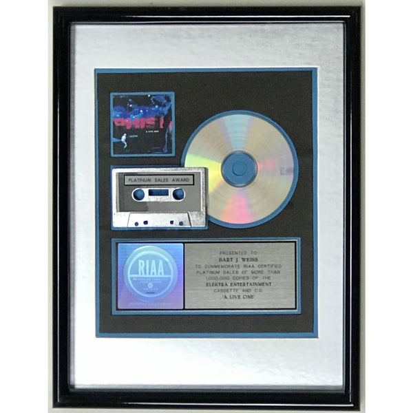 Phish A Live One RIAA Platinum Album Award - Record Award