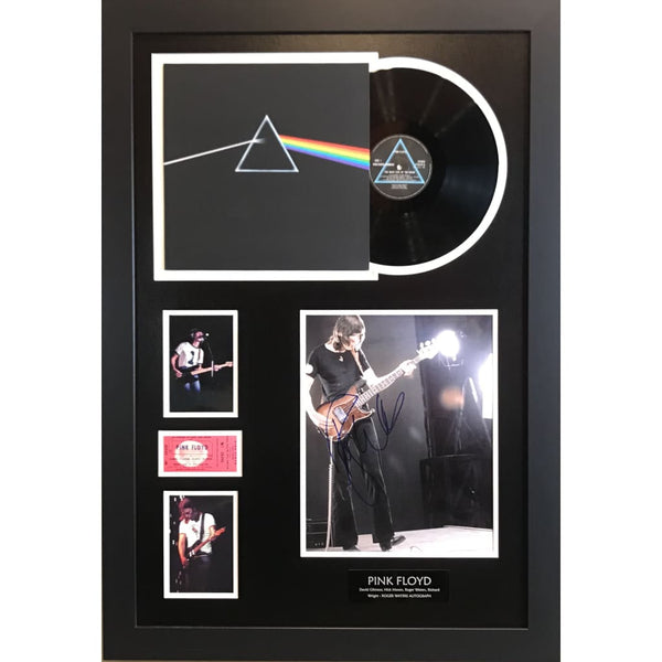 Pink Floyd Collage Autographed By Roger Waters W/epperson Loa