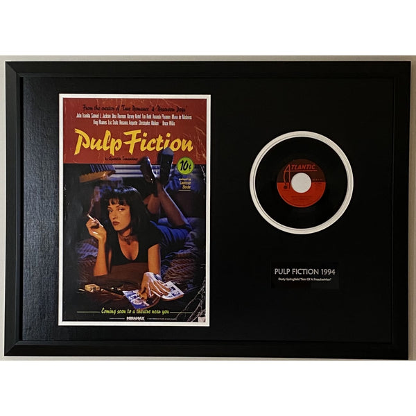 Pulp Fiction Flowers On The Wall Collage - Music Memorabilia Collage