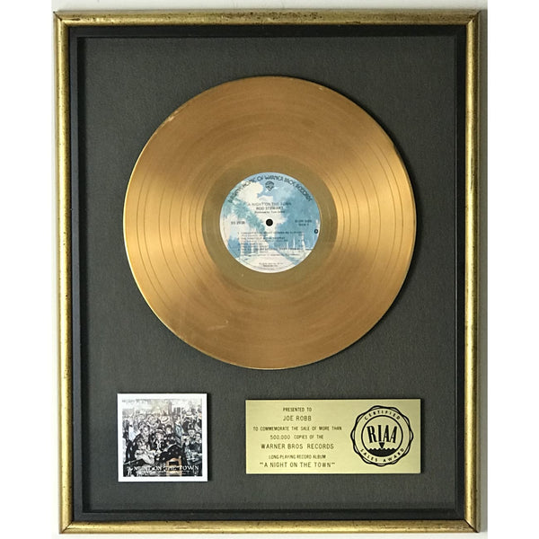 Rod Stewart A Night On The Town RIAA Gold LP Award - Record Award
