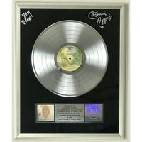 Rod Stewart Foot Loose & Fancy Free RIAA Platinum Album Award presented to and signed by Carmine Appice