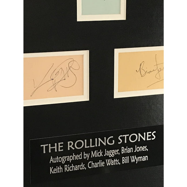 Rolling Stones 1968 Rock And Roll Circus Autographs Collage w/Tracks UK LOA - RARE - Music Memorabilia Collage