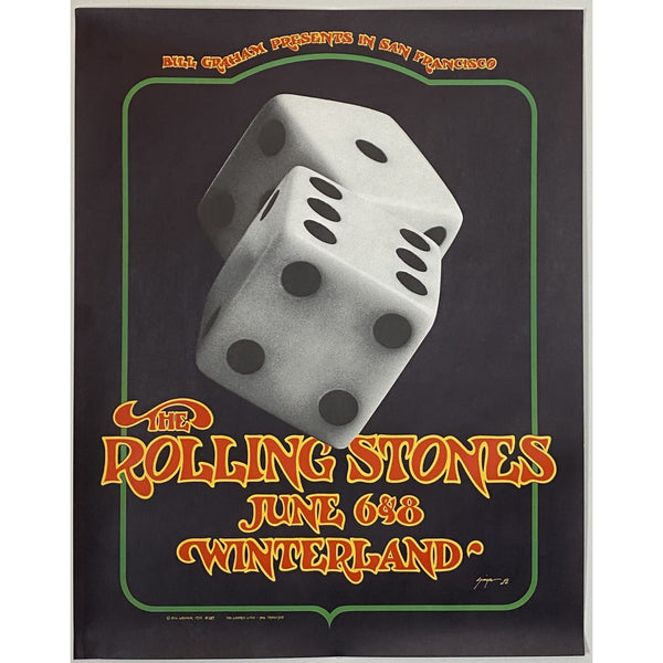 Rolling Stones 1972 Winterland BG-289 Poster 2nd Printing - Poster