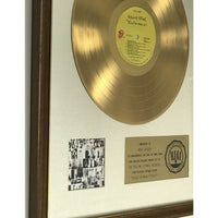 Rolling Stones Exile On Main St. White Matte RIAA Gold Album Award presented to Mick Jagger - RARE - Record Award