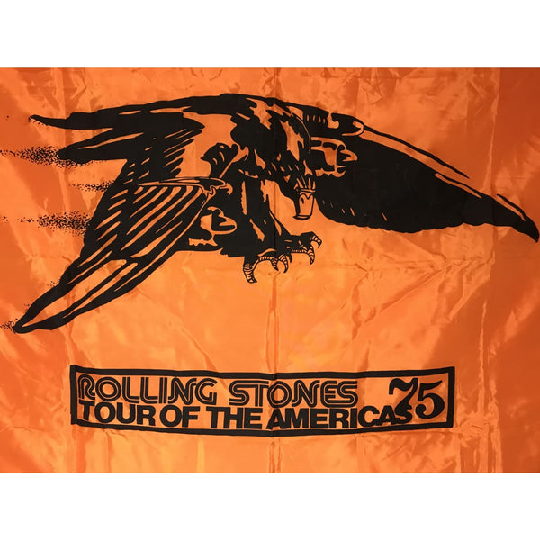 Rolling Stones Original 1975 Tour Of The Americas Banner - Music Memorabilia