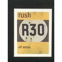 Rush The Trees Limited Edition poster with backstage passes