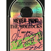 Sex Pistols Never Mind The Bollocks... Signed CD Collage w/Epperson LOA