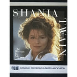 Shania Twain The Woman In Me CRIA 6x Platinum Album Award
