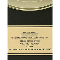 Stone Temple Pilots Tiny Music... Songs From The Vatican Gift Shop RIAA Gold LP Award