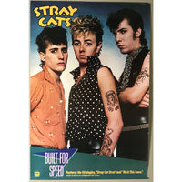 Stray Cats Built For Speed 1983 Promo Poster