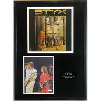 Styx Collage Signed by Tommy Shaw & James Young w/JSA COA