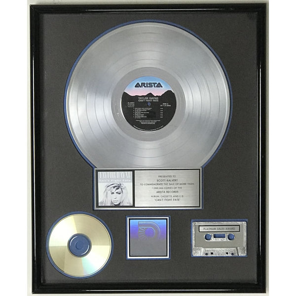 Taylor Dayne Can't Fight Fate RIAA Platinum Album Award - Record Award