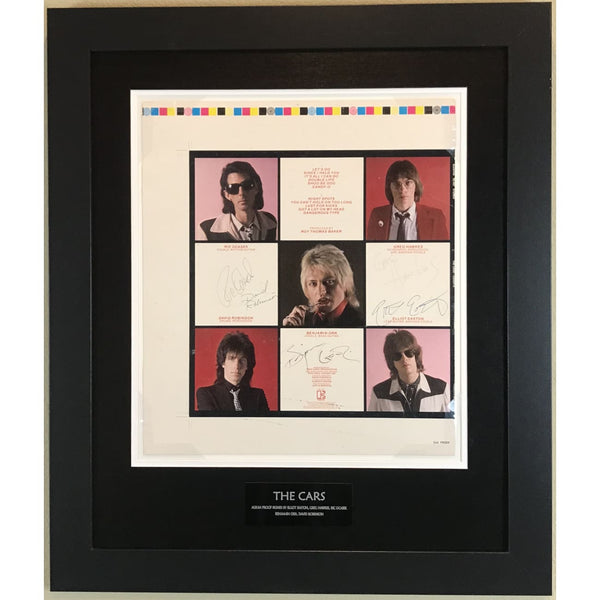 The Cars Candy-O album art proof signed by Ocasek Orr and entire group w/Epperson LOA