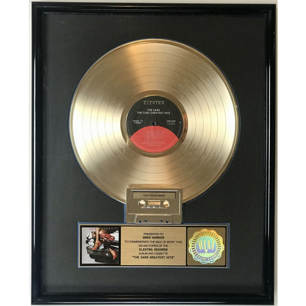 The Cars Greatest Hits RIAA Gold Album Award presented to Greg Hawkes - RARE
