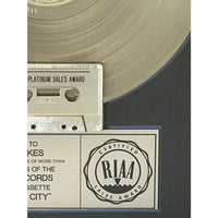 The Cars Heartbeat City RIAA 2x Multi-Platinum LP Award presented to Greg Hawkes - RARE - Record Award