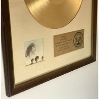 The Doors 13 White Matte RIAA Gold LP Award presented to Jim Morrison - RARE