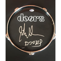 The Doors Drumhead Collage Signed by John Densmore w/BAS COA