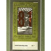 The Grateful Dead Genuine 1970 Ticket Collage - Music Memorabilia Collage