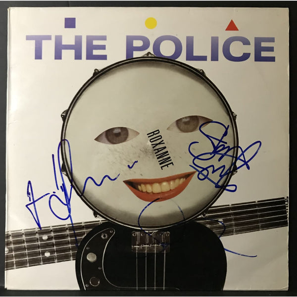 The Police Roxanne Maxi-Single signed by Sting Summers Copeland w/Epperson LOA