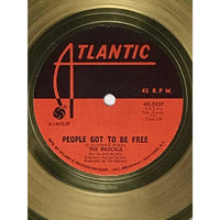 The Rascals People Got To Be Free White Matte RIAA Gold 45 Award - RARE
