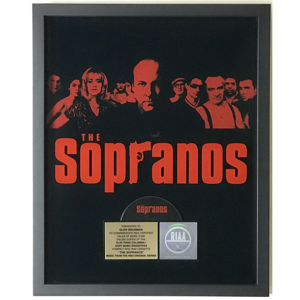 The Sopranos Music From The HBO Series RIAA Gold Album Award - Record Award