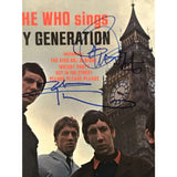 The Who Daltrey Townshend Autographed Collage w/Epperson LOA