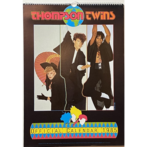 Thompson Twins 1985 Calendar Vintage - Music Memorabilia