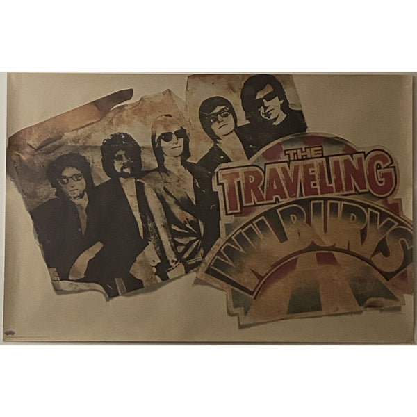 Traveling Wilburys Litho Style 1988 Promo Poster