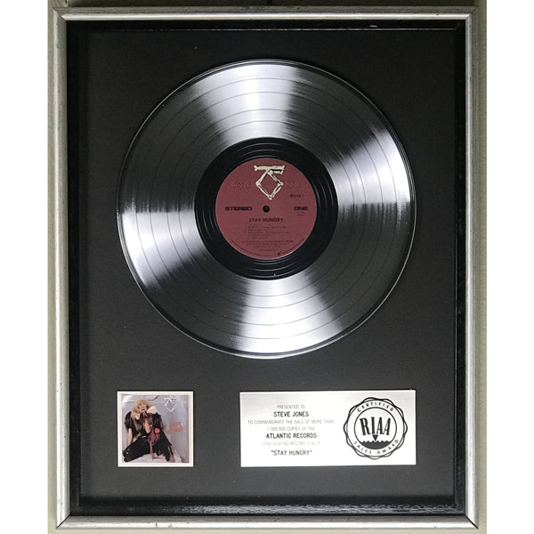 Twisted Sister Stay Hungry RIAA Platinum LP Award