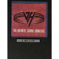 Van Halen For Unlawful Carnal Knowledge RIAA 2x Multi-Platinum Album Award - Record Award