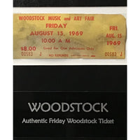 Woodstock Genuine Friday Ticket Collage - Music Memorabilia Collage