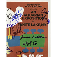 Woodstock Poster & Ticket Collage Signed By 13 Artists w/Epperson LOA - Music Memorabilia Collage
