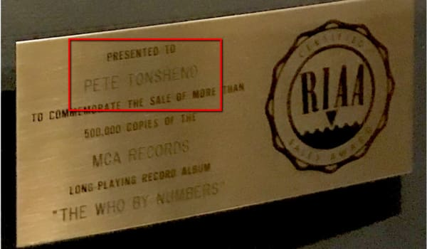 RIAA award error